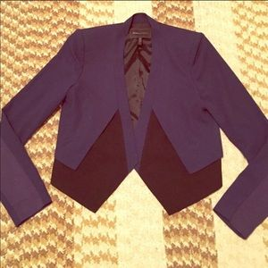 Bcbg black and blue blazer